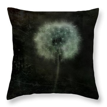 Moonlit Dandelion Throw Pillow by Gothicolors Donna