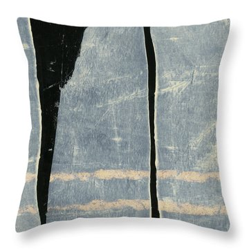Moonlit Sentinels Throw Pillow by Carol Leigh