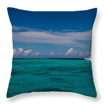 Moorea Lagoon No 16 Throw Pillow by David Smith