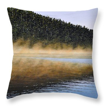 Moose Lake Paddle Throw Pillow by Kenneth M  Kirsch