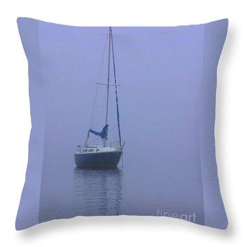 Morning Calm Throw Pillow by Karol Livote