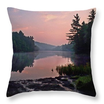 Morning....... Egypt Pond Throw Pillow by Joy Nichols