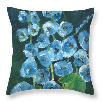 Morning Glory Greetings Throw Pillow by Sherry Harradence