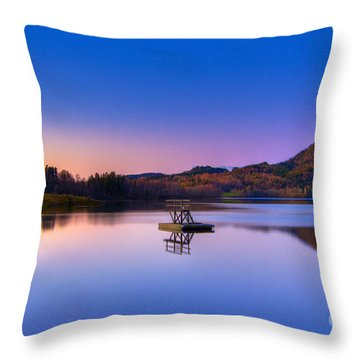 Morning Glory.. Throw Pillow by Nina Stavlund