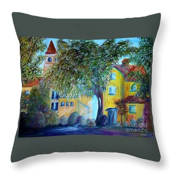 Morning In Tuscany Throw Pillow by Eloise Schneider