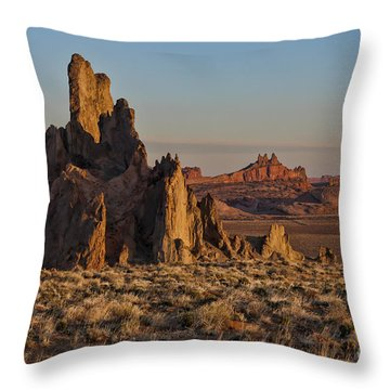 Morning Light At Church Rock Throw Pillow by Sandra Bronstein