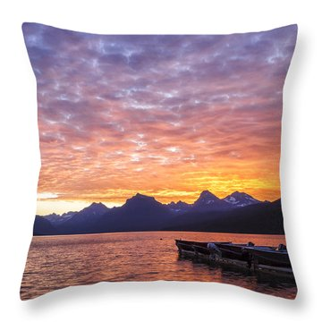 Morning Light Throw Pillow by Jon Glaser