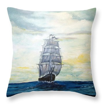 Morning Light On The Atlantic Throw Pillow by Lee Piper