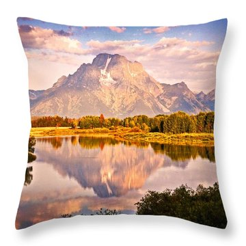Morning Majesty Throw Pillow by Marty Koch