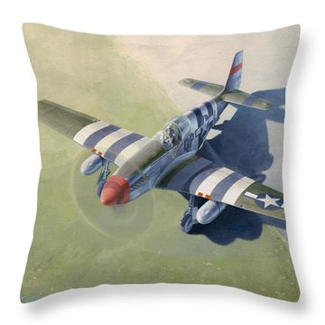 Morning Mission Throw Pillow by Wade Meyers