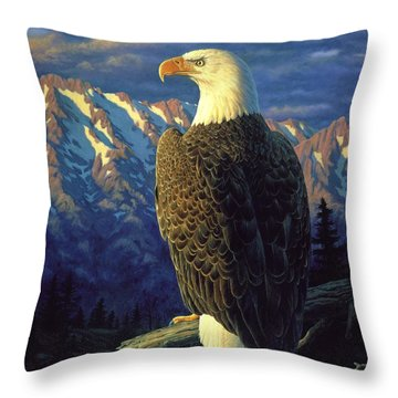 Morning Quest Throw Pillow by Crista Forest