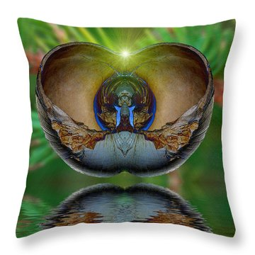 Morning Shell Throw Pillow by WB Johnston