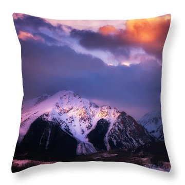 Morning Storm Throw Pillow by Darren  White