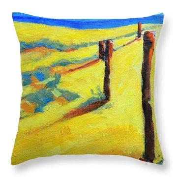 Morning Sun At The Beach Throw Pillow by Patricia Awapara