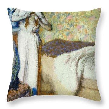 Morning Toilet Throw Pillow by Edgar Degas