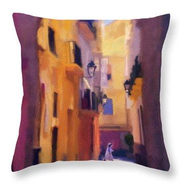 Moroccan Light Throw Pillow by Bob Galka
