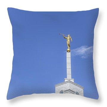 Moroni Throw Pillow by Tony Maduro