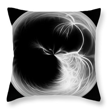 Morphed Art Globe 13 Throw Pillow by Rhonda Barrett