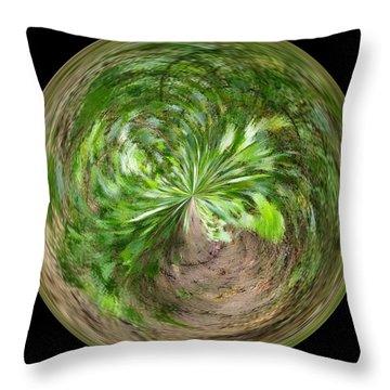 Morphed Art Globe 3 Throw Pillow by Rhonda Barrett