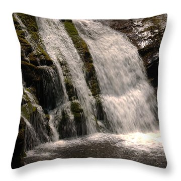 Mossy Drop Throw Pillow by Greg and Chrystal Mimbs