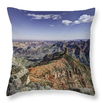 Mount Hayden Throw Pillow by Mike Herdering