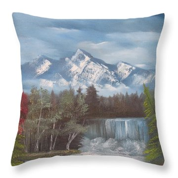 Mountain Dreams Throw Pillow by Dawn Nickel