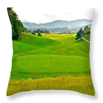 Mountain Golf Throw Pillow by Frozen in Time Fine Art Photography