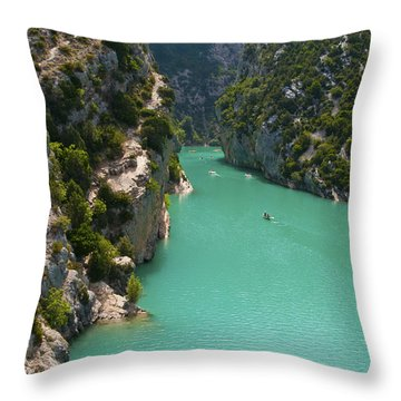 Mouth Of The Verdon River  Throw Pillow by Bob Phillips
