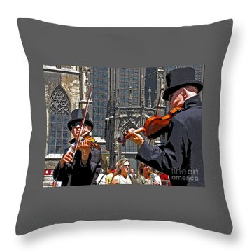 Mozart In Masquerade Throw Pillow by Ann Horn