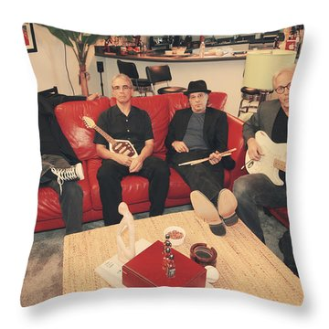 Mr. Chin's Hot Sauce  Throw Pillow by Laurie Search