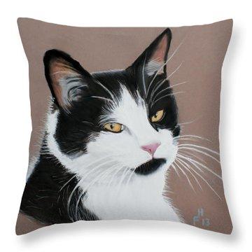 Mr Jinx Throw Pillow by Frank Hamilton