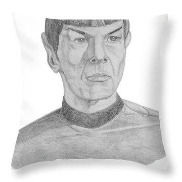 Mr. Spock Throw Pillow by Thomas J Herring