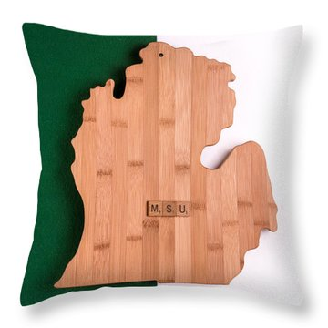 Msu Inspireme Throw Pillow by  Onyonet  Photo Studios