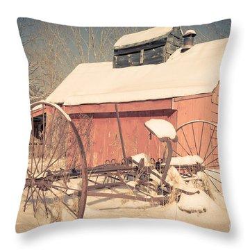 Mt. Cube Farm Old Sugar Shack Throw Pillow by Edward Fielding