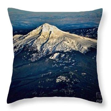 Mt Hood Throw Pillow by Jon Burch Photography