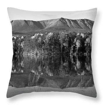 Mt Katahdin Black And White Throw Pillow by Glenn Gordon