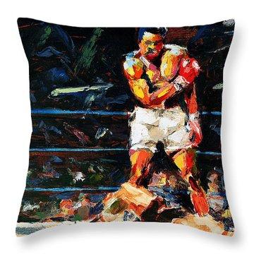 Muhammad Ali Throw Pillow by Derek Russell