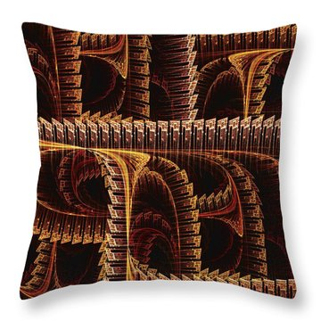 Multidimensional Passages Throw Pillow by Anastasiya Malakhova