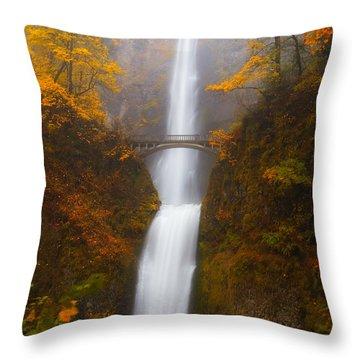 Multnomah Morning Throw Pillow by Darren  White