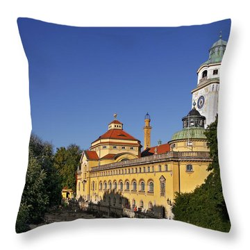 Munich - Mueller'sches Volksbad - Au-haidhausen Throw Pillow by Christine Till