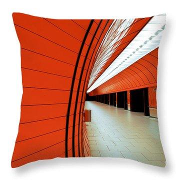 Munich Subway II Throw Pillow by Hannes Cmarits