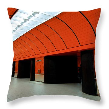 Munich Subway IIi Throw Pillow by Hannes Cmarits