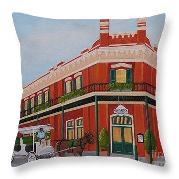 Muriels Throw Pillow by Valerie Carpenter