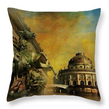 Museum Island Throw Pillow by Catf