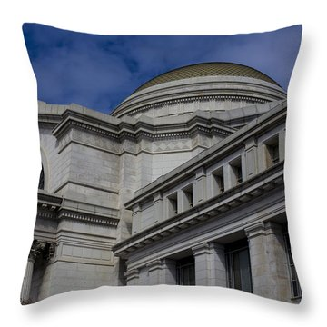 Museum Of Natural History Throw Pillow by Andrew Pacheco