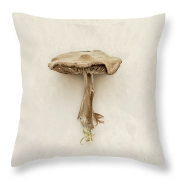 Mushroom Throw Pillow by Lucid Mood