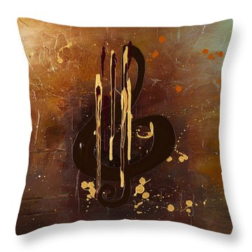 Music All Around Us Throw Pillow by Carmen Guedez