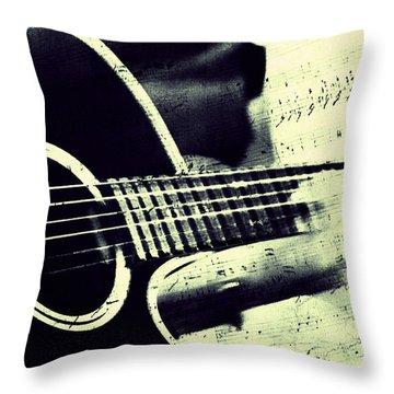 Music From The Heart II Throw Pillow by Jenny Rainbow
