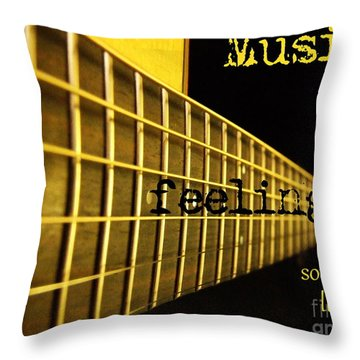 Music Is Throw Pillow by Andrea Anderegg
