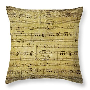 Music Is What Feelings Sound Like Throw Pillow by Sylvia Cook